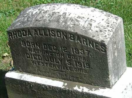BARNES, RHODA ALLISON - Franklin County, Ohio | RHODA ALLISON BARNES - Ohio Gravestone Photos
