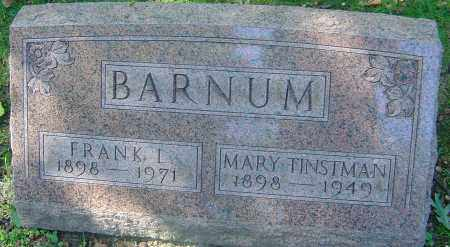 TINSTMAN BARNUM, MARY - Franklin County, Ohio | MARY TINSTMAN BARNUM - Ohio Gravestone Photos