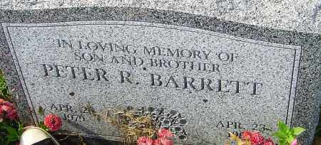 BARRETT, PETER R - Franklin County, Ohio | PETER R BARRETT - Ohio Gravestone Photos