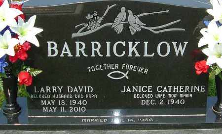 BARRICKLOW, LARRY DAVID - Franklin County, Ohio | LARRY DAVID BARRICKLOW - Ohio Gravestone Photos