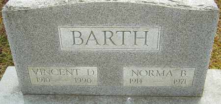 BARTH, VINCENT D - Franklin County, Ohio | VINCENT D BARTH - Ohio Gravestone Photos