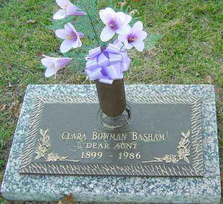 BOWMAN BASHAM, CLARA - Franklin County, Ohio | CLARA BOWMAN BASHAM - Ohio Gravestone Photos