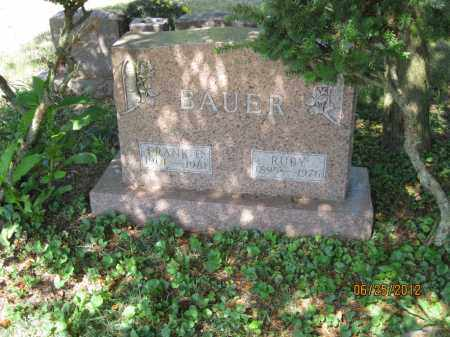 BAUER, RUBY - Franklin County, Ohio | RUBY BAUER - Ohio Gravestone Photos