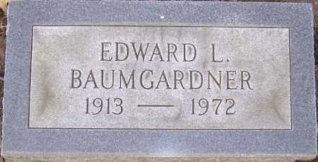 BAUMGARDNER, EDWARD L - Franklin County, Ohio | EDWARD L BAUMGARDNER - Ohio Gravestone Photos