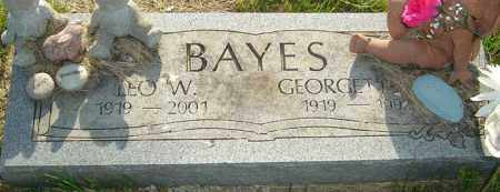 BAYES, LEO W - Franklin County, Ohio | LEO W BAYES - Ohio Gravestone Photos