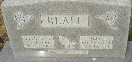 BEALL, LEMAN G - Franklin County, Ohio | LEMAN G BEALL - Ohio Gravestone Photos
