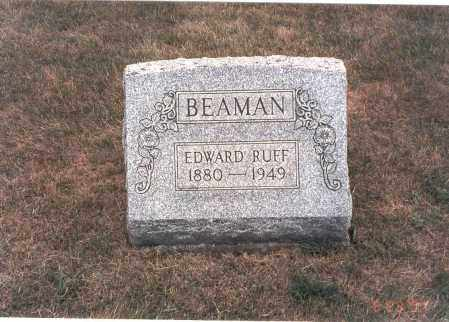 BEAMAN, EDWARD RUFF - Franklin County, Ohio | EDWARD RUFF BEAMAN - Ohio Gravestone Photos
