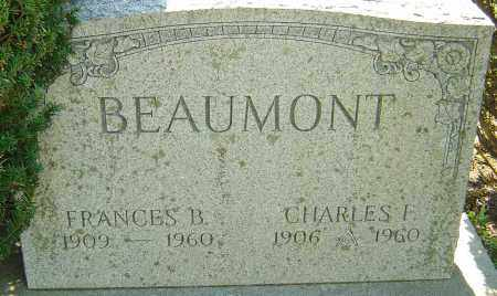 BEAUMONT, CHARLES FRANCIS - Franklin County, Ohio | CHARLES FRANCIS BEAUMONT - Ohio Gravestone Photos
