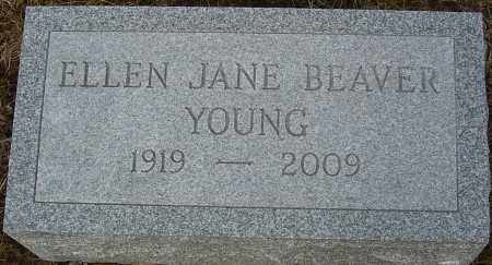 MYGOTT BEAVER YOUNG, ELLEN JANE - Franklin County, Ohio | ELLEN JANE MYGOTT BEAVER YOUNG - Ohio Gravestone Photos