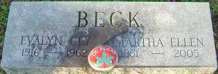 BECK, MARTHA - Franklin County, Ohio | MARTHA BECK - Ohio Gravestone Photos
