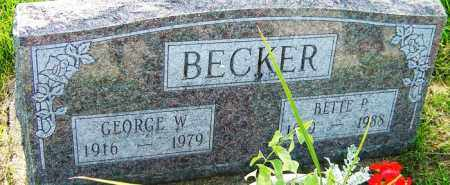 BECKER, GEORGE W - Franklin County, Ohio | GEORGE W BECKER - Ohio Gravestone Photos