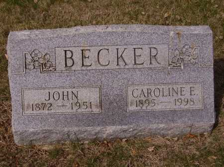 BECKER, CAROLINE - Franklin County, Ohio | CAROLINE BECKER - Ohio Gravestone Photos