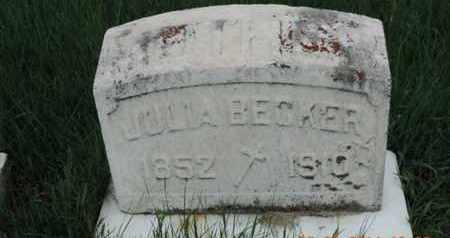 BECKER, JULLA - Franklin County, Ohio | JULLA BECKER - Ohio Gravestone Photos