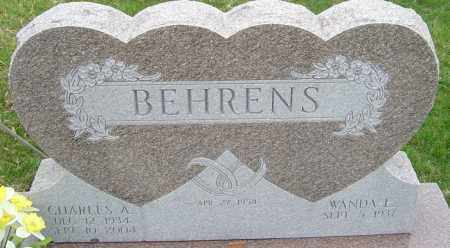 BEHRENS, CHARLES A - Franklin County, Ohio | CHARLES A BEHRENS - Ohio Gravestone Photos
