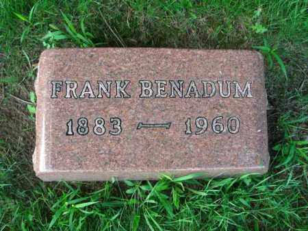 BENADUM, FRANK - Franklin County, Ohio | FRANK BENADUM - Ohio Gravestone Photos