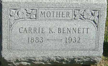 KINCAID BENNETT, CARRIE LOUISE - Franklin County, Ohio | CARRIE LOUISE KINCAID BENNETT - Ohio Gravestone Photos