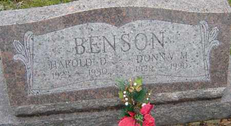 BENSON, DONNA M - Franklin County, Ohio | DONNA M BENSON - Ohio Gravestone Photos
