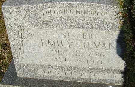 BEVAN, EMILY - Franklin County, Ohio | EMILY BEVAN - Ohio Gravestone Photos