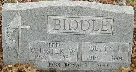 BIDDLE, CHESTER W - Franklin County, Ohio | CHESTER W BIDDLE - Ohio Gravestone Photos