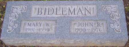 BIDLEMAN, MARY - Franklin County, Ohio | MARY BIDLEMAN - Ohio Gravestone Photos