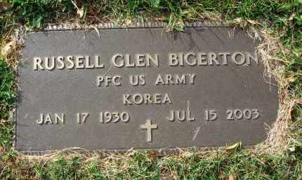 BIGERTON, RUSSELL GLEN - Franklin County, Ohio | RUSSELL GLEN BIGERTON - Ohio Gravestone Photos