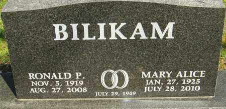 BILIKAM, RONALD P - Franklin County, Ohio | RONALD P BILIKAM - Ohio Gravestone Photos