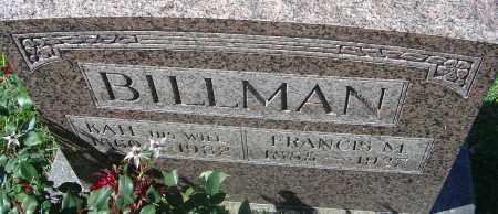BILLMAN, KATE - Franklin County, Ohio | KATE BILLMAN - Ohio Gravestone Photos