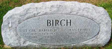 BIRCH, HAROLD H - Franklin County, Ohio | HAROLD H BIRCH - Ohio Gravestone Photos