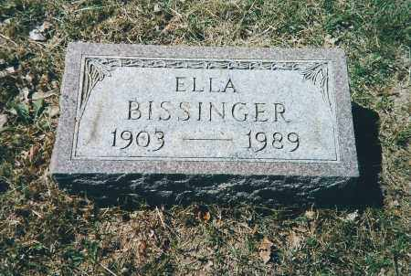 BISSINGER, ELLA - Franklin County, Ohio | ELLA BISSINGER - Ohio Gravestone Photos