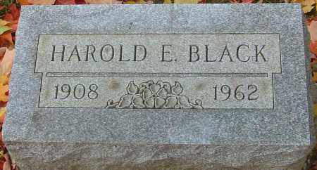 BLACK, HAROLD E - Franklin County, Ohio | HAROLD E BLACK - Ohio Gravestone Photos