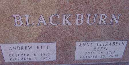 REESE BLACKBURN, ANNE ELIZABETH - Franklin County, Ohio | ANNE ELIZABETH REESE BLACKBURN - Ohio Gravestone Photos