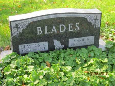 BLADES, CLAYTON CHARLES - Franklin County, Ohio | CLAYTON CHARLES BLADES - Ohio Gravestone Photos