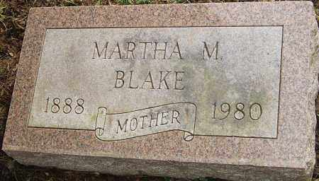 BLAKE, MARTHA M - Franklin County, Ohio | MARTHA M BLAKE - Ohio Gravestone Photos