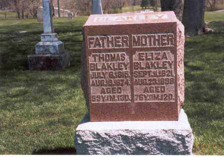 BLAKLEY, ELIZA - Franklin County, Ohio | ELIZA BLAKLEY - Ohio Gravestone Photos