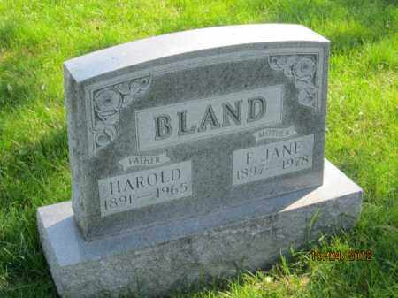 BLAND, HAROLD - Franklin County, Ohio | HAROLD BLAND - Ohio Gravestone Photos