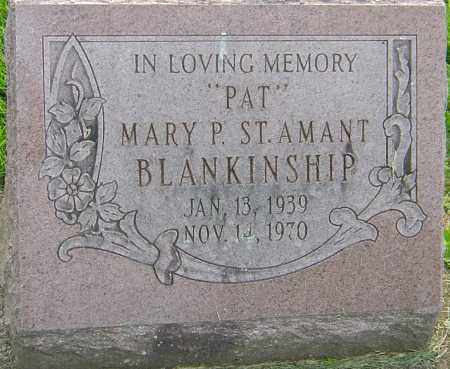 BLANKINSHIP, MARY P - Franklin County, Ohio | MARY P BLANKINSHIP - Ohio Gravestone Photos