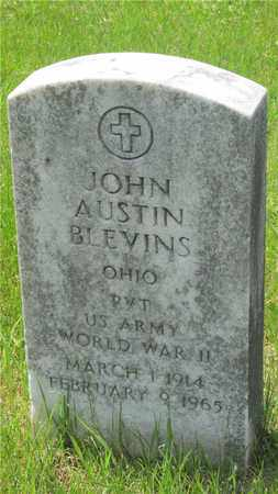 BLEVINS, JOHN AUSTIN - Franklin County, Ohio | JOHN AUSTIN BLEVINS - Ohio Gravestone Photos