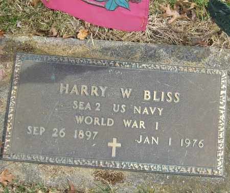 BLISS, HARRY W - Franklin County, Ohio | HARRY W BLISS - Ohio Gravestone Photos