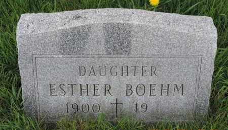 BOEHM, ESTHER - Franklin County, Ohio | ESTHER BOEHM - Ohio Gravestone Photos