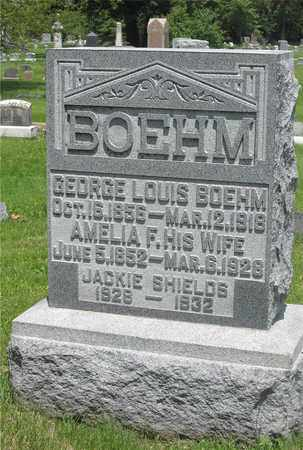 BOEHM, GEORGE LOUIS - Franklin County, Ohio | GEORGE LOUIS BOEHM - Ohio Gravestone Photos