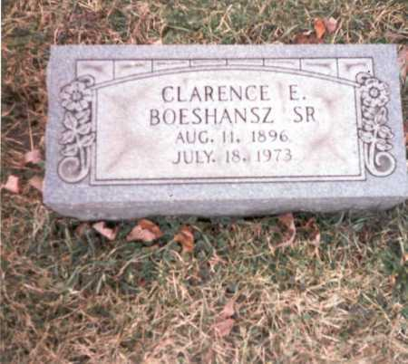BOESHANSZ, SR., CLARENCE E. - Franklin County, Ohio | CLARENCE E. BOESHANSZ, SR. - Ohio Gravestone Photos