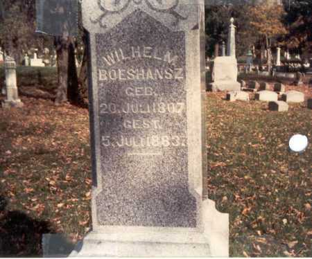 BOESHANSZ, WILHELM - Franklin County, Ohio | WILHELM BOESHANSZ - Ohio Gravestone Photos