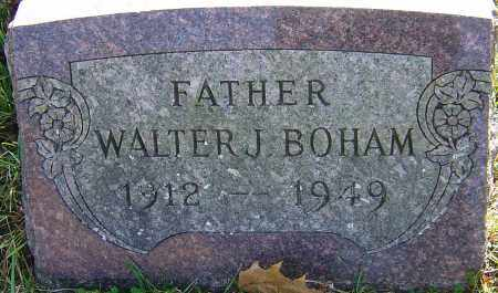 BOHAM, WALTER J - Franklin County, Ohio | WALTER J BOHAM - Ohio Gravestone Photos