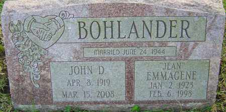 BOHLANDER, EMMAGENE - Franklin County, Ohio | EMMAGENE BOHLANDER - Ohio Gravestone Photos