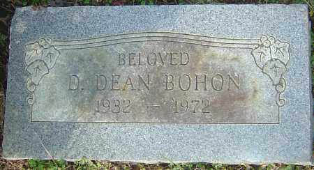 BOHON, D DEAN - Franklin County, Ohio | D DEAN BOHON - Ohio Gravestone Photos