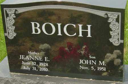 BOICH, JEANNE E - Franklin County, Ohio | JEANNE E BOICH - Ohio Gravestone Photos