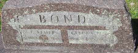 BOND, GLENNA - Franklin County, Ohio | GLENNA BOND - Ohio Gravestone Photos