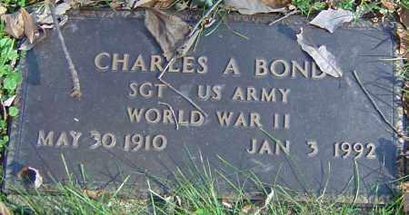 BOND, CHARLES A - Franklin County, Ohio | CHARLES A BOND - Ohio Gravestone Photos