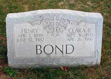 BOND, HENRY - Franklin County, Ohio | HENRY BOND - Ohio Gravestone Photos