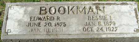 BOOKMAN, BESSIE INA - Franklin County, Ohio | BESSIE INA BOOKMAN - Ohio Gravestone Photos
